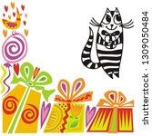 happy birthday greeting card...   Shutterstock .eps vector #1309050484