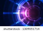 abstract futuristic digital... | Shutterstock .eps vector #1309051714