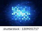 vector graphics. chip processor ... | Shutterstock .eps vector #1309051717