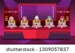 e sport girl tournament  team... | Shutterstock .eps vector #1309057837