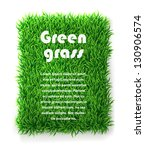 Rectangle Green Grass Banner....