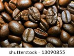 coffee beans close up | Shutterstock . vector #13090855