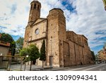 church in barcelona in the... | Shutterstock . vector #1309094341