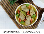 green curry with fish balls ...   Shutterstock . vector #1309096771