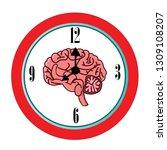 the circadian rhythms vector... | Shutterstock .eps vector #1309108207