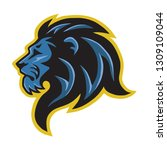 lion head logo mascot   Shutterstock .eps vector #1309109044
