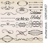 calligraphic design elements... | Shutterstock .eps vector #130910927