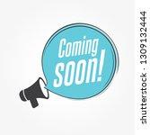 coming soon megaphone... | Shutterstock .eps vector #1309132444
