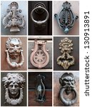 collage of old knockers | Shutterstock . vector #130913891