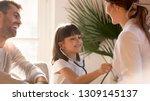 cute little girl playing as... | Shutterstock . vector #1309145137