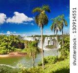 iguassu falls  the largest... | Shutterstock . vector #130914551