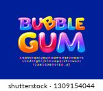 vector colorful logotype bubble ... | Shutterstock .eps vector #1309154044