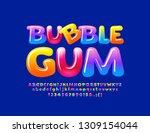 vector colorful logotype bubble ... | Shutterstock .eps vector #1309154044