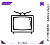 television vector icon. best...