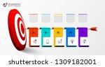 infographic design template....   Shutterstock .eps vector #1309182001
