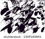 distressed background in black... | Shutterstock . vector #1309185841