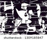 distressed background in black... | Shutterstock . vector #1309185847