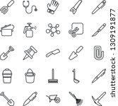 thin line icon set   pen vector ... | Shutterstock .eps vector #1309191877