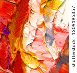 hand drawn colorful abstract...   Shutterstock . vector #1309195357