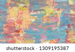 hand drawn abstract painting...   Shutterstock . vector #1309195387