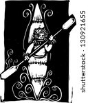 woodcut style image of a inuit... | Shutterstock . vector #130921655