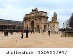paris  france   2th february... | Shutterstock . vector #1309217947