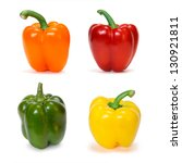 Set Of Colored Bell Peppers...