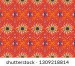 seamless floral pattern.... | Shutterstock .eps vector #1309218814