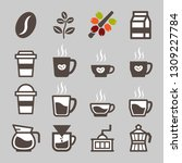 coffee icon set | Shutterstock .eps vector #1309227784