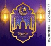 ramadan kareem or eid mubarak... | Shutterstock .eps vector #1309237447