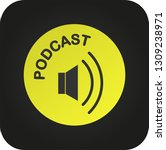 podcast icon  vector for... | Shutterstock .eps vector #1309238971