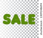 green grass sale text  isolated ... | Shutterstock .eps vector #1309248694