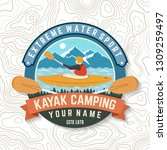 kayak club. vector. concept for ... | Shutterstock .eps vector #1309259497