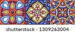 mexican talavera ceramic tile... | Shutterstock .eps vector #1309263004