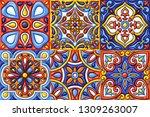 mexican talavera ceramic tile... | Shutterstock .eps vector #1309263007