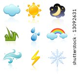 weather icon set | Shutterstock .eps vector #13092631