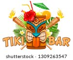 signboard of tiki bar with... | Shutterstock .eps vector #1309263547