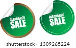 clearance sale stickers | Shutterstock .eps vector #1309265224
