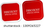 discount special offer stickers | Shutterstock .eps vector #1309265227
