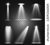 stage lighting  a collection of ... | Shutterstock .eps vector #1309266004