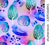 seamless watercolor background. ... | Shutterstock . vector #1309266841