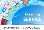 cleaning service blue... | Shutterstock .eps vector #1309275637