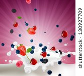 vector illustration of berries... | Shutterstock .eps vector #130927709