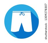 man shorts icon with long...
