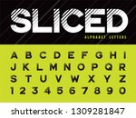 vector of glitch modern... | Shutterstock .eps vector #1309281847