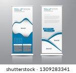 roll up stand design. vertical... | Shutterstock .eps vector #1309283341