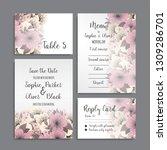 wedding invitation set.... | Shutterstock .eps vector #1309286701
