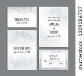 wedding invitation set.... | Shutterstock .eps vector #1309286737