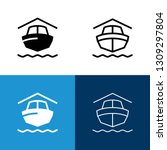 boat storage icon set | Shutterstock .eps vector #1309297804