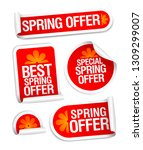 best and special spring offers... | Shutterstock .eps vector #1309299007